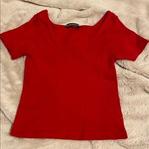 Like new Brandy Melville red shirt